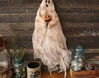 Primitive Halloween Ghost Door Doll Digital PDF Pattern