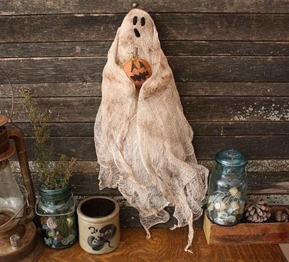 Primitive Halloween Ghost Door Doll E-PATTERN
