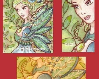 ACEO 037 Aristocratic Fairy 2 - Limited Edition Print   -   S P E C I A L