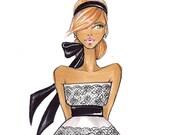 Audrey V-Fashion Illustration-by Brooke Hagel