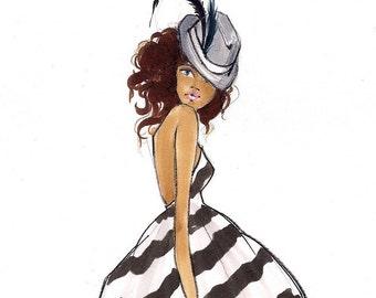 Mystie-Fashion Ilustration-Print