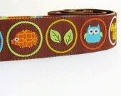 Ribbon- Woodland Creatures- Woven Jacquard Trim by designer Dena Designs