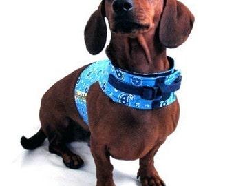 Eco Dog Harness - Renewable Blue Bandana - Medium