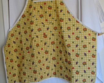 Fall Apron with Pumpkins, Grapes & Apples  #F/H-156