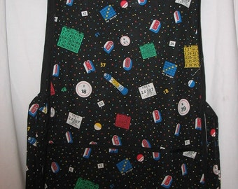 Cobbler Apron with Bingo Theme  #2009 Size large