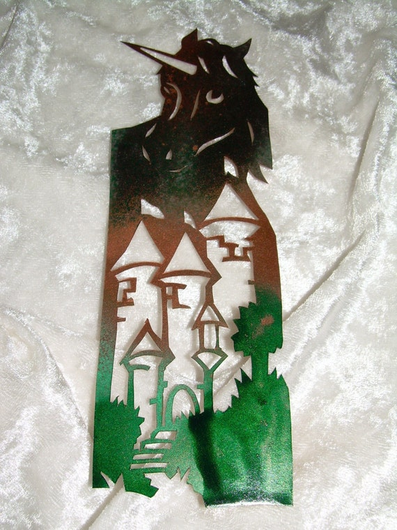 Unicorn Castle Bookmark Papercutting Art