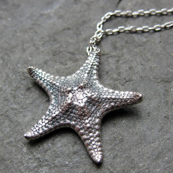 sterling silver starfish necklace silver starfish pendant