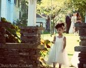 Kids Flower Girl Dress, Ivory Flower Girl Dresses, Tulle Tutu Princess Baby White Dress, Toddler Flower Girls Dress, Wedding Dress Baby