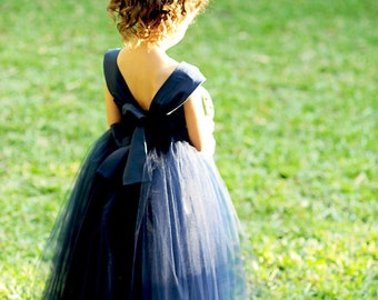 Navy Flower Girl Dress 6. 7. 8.