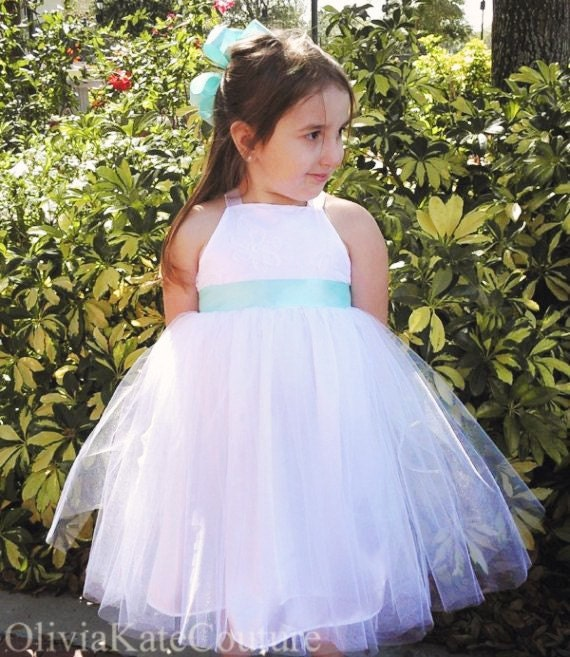 Items similar to Tulle Flower Girl Dress on Etsy