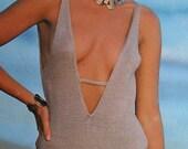 Knitting Patterns Crochet Sweater Pingouin 61 Bikini Swimsuit Summer Women Tank Top Vintage Paper Original NOT PDF
