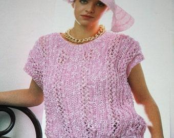 Sweater Knitting Patterns Viana 1141 Newport Women Children Summer Vintage Paper Original NOT a PDF