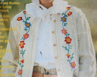 Sweater Knitting Patterns Crochet Women Men Pingouin Spring 1982 Cardigan Vest Shawl Twinset Vintage Paper Original NOT a PDF