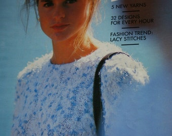 Knitting Patterns Sweaters Pingouin 114 Women Cardigans Tunic Summer Spring Vintage Paper Original NOT a PDF