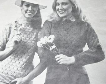 Sweater Knitting Pattern Lace Mary Maxim 1921 1922 Women Vintage Paper Original NOT a PDF