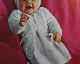 Baby Knitting Patterns Nursery Styles 3 to 12 months Patons Beehive 111 Sweater Blanket Cardigan Dress Vintage Paper Original NOT a PDF