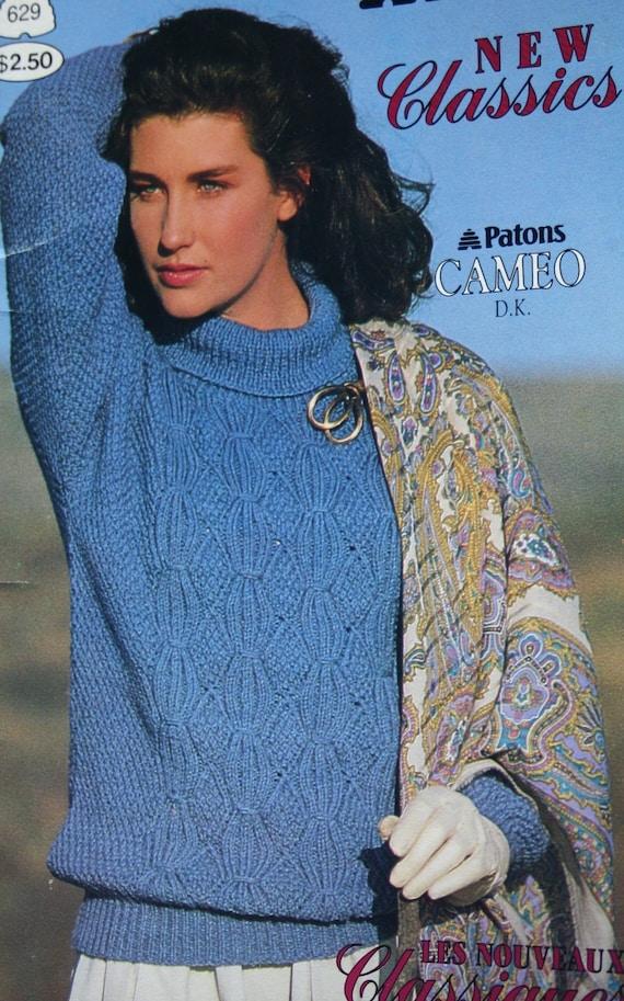 Sweater Knitting Patterns Women DK Weight Yarn New Classics