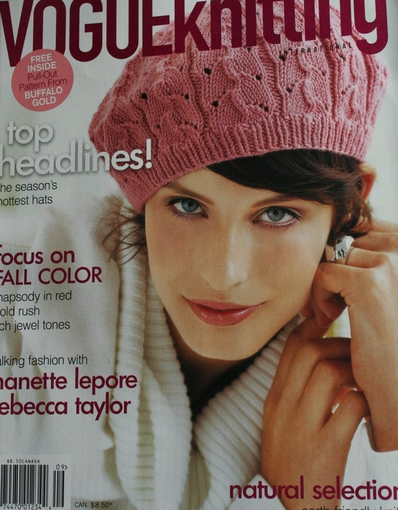 Knitting Magazines List : Knitting patterns vogue magazine fall sweater
