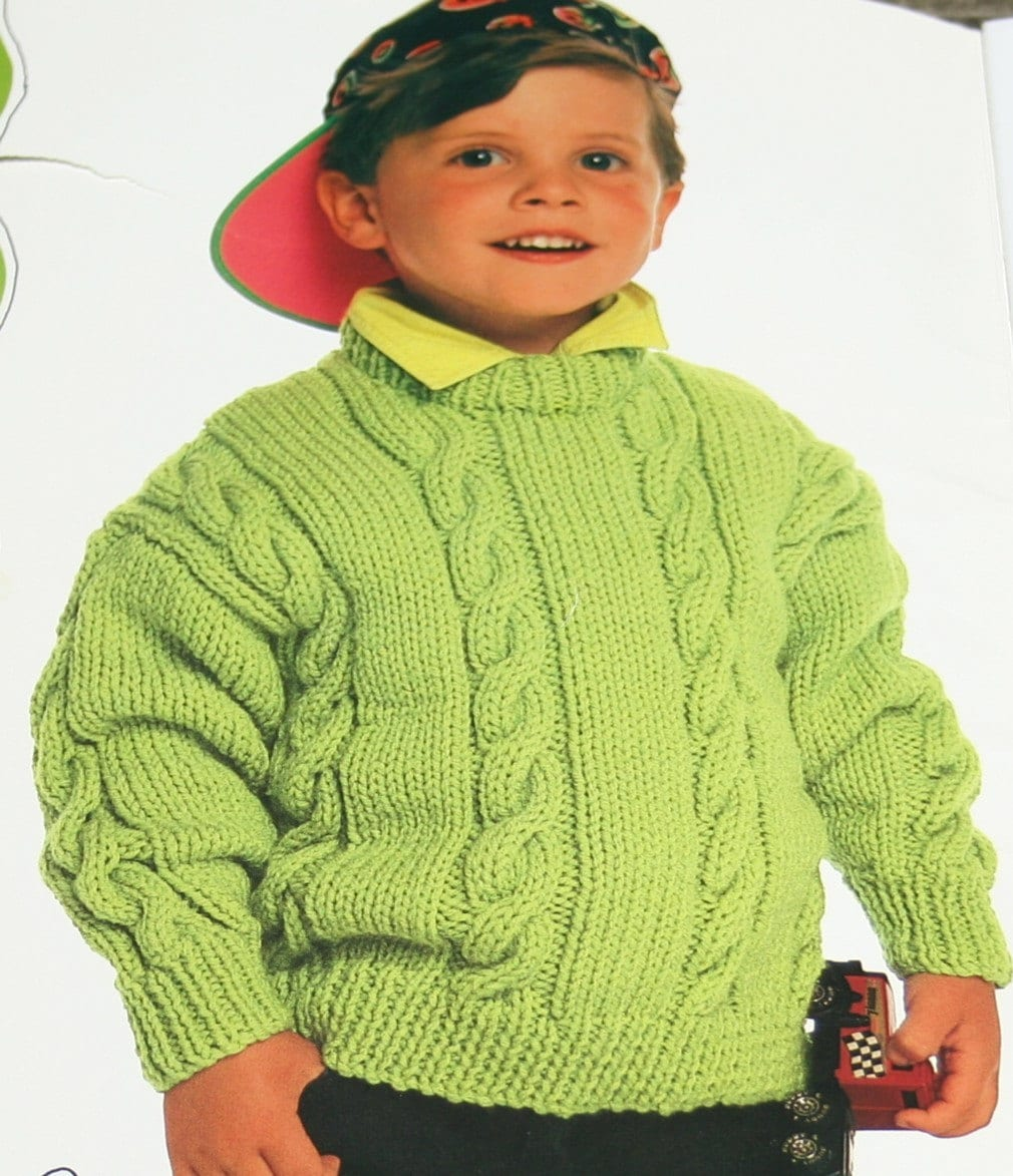 Knitting Patterns For Kids : Sweater Knitting Patterns Canadiana Kids II Beehive Patons 658
