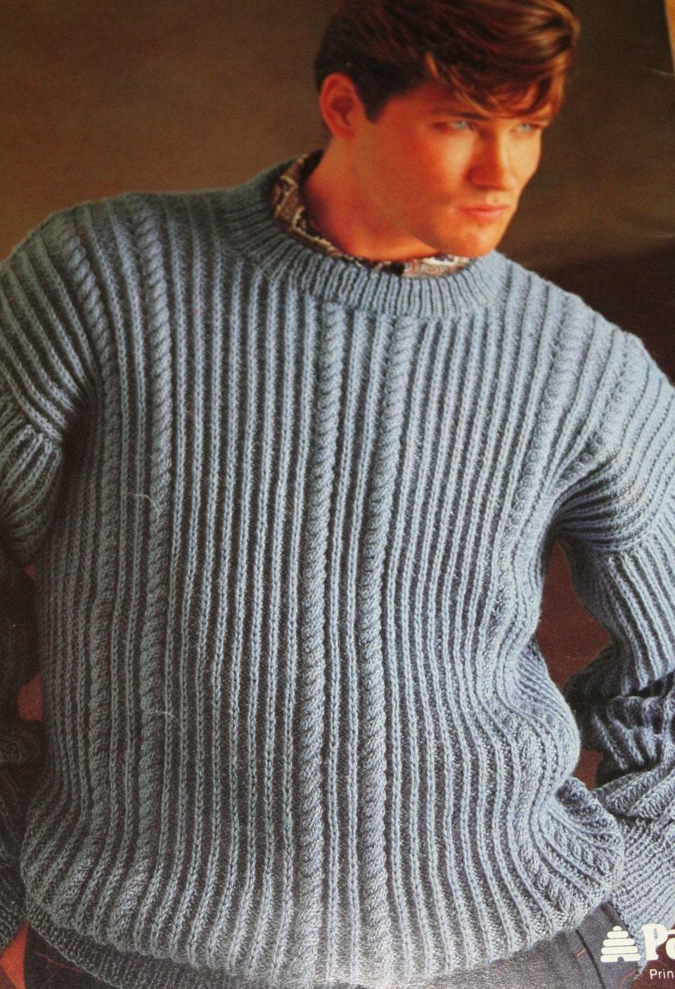 Knitting Patterns Sweaters Men Women Dk Weight Yarn