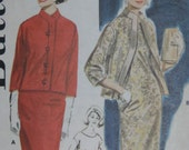 Butterick 2836, 1960s semi-fitted dress and jacket, Day and Night
