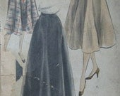 Vogue 7467, early 1950s flared skirt