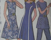 McCall's 3242, early 1970s dress or tunic and pants