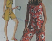 Simplicity 8787, early 1970s jumpsuit in two lengths