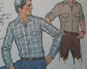 Men's casual shirt, 1970s vintage pattern, Simplicity 8444