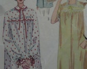 Early 1950s nightgowns and bed jacket, Simplicity 3388