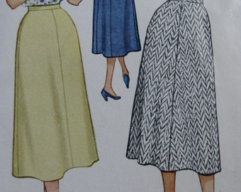 McCall's 9650, 1950s 5-gore, A-line skirt