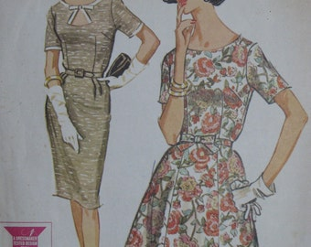 McCall's 6778, 1960s dress with keyhole neckline detail