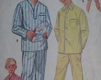 Simplicity 1434, 1950s boys' pajamas