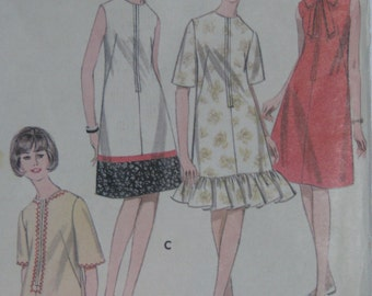 Butterick 3978, 1960s beach dress and cover up