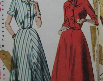 Simplicity 4430, 1950s shirtwaist dress