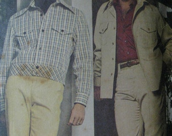 McCall's 4386, 1970s men's jacket and pants