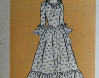 Vintage mail order pattern 9437, colonial costume, 1970s, Bicentennial