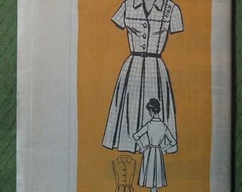 Vintage pattern, 1960s shirtwaist dress, Anne Adams 4500, mail order