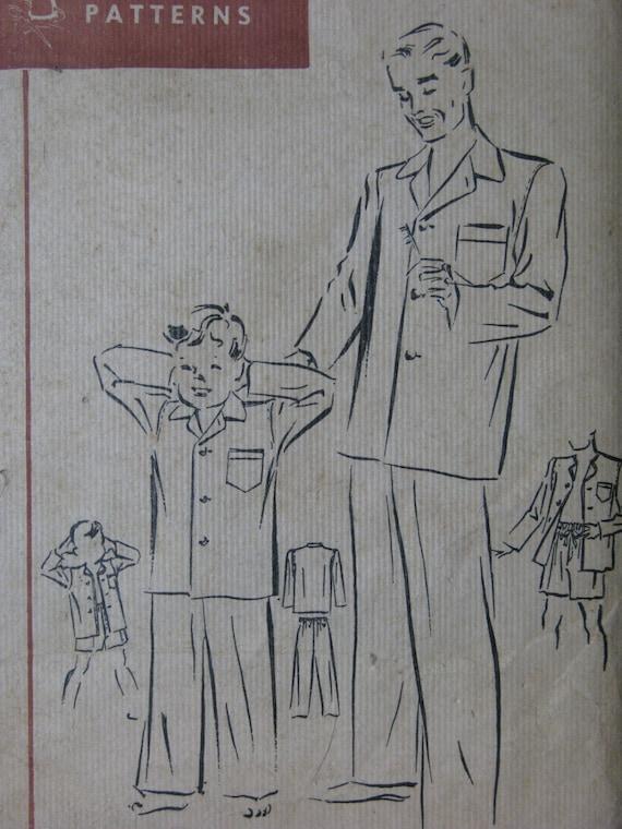 Fairloom Superior 6422, 1940s men's pajamas