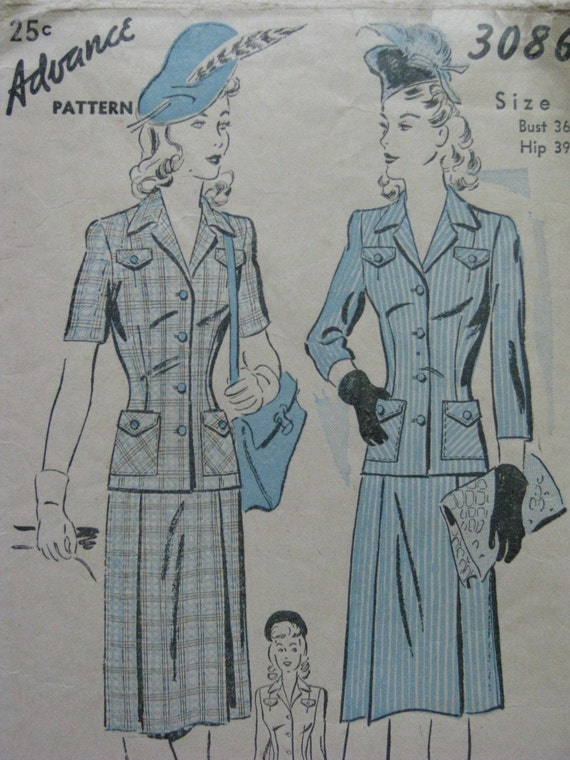Advance 3086, early 1940s suit