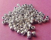 Spacer Beads Silver 2mm lot of 100 lead free antiqued pewter
