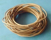 Natural Leather Cord 2mm Tan Light Brown 5 yards NATURAL ELEMENTS
