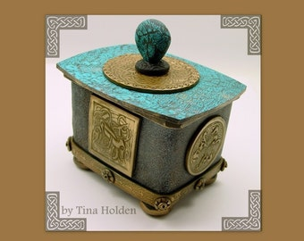 Polymer Clay Tutorial - Cookie Cutter Box - Celtic Gold - Digital PDF Download