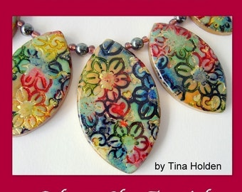 Batik and Shimmer Technique and Jewelry - Polymer Clay Tutorial - Digital PDF Download