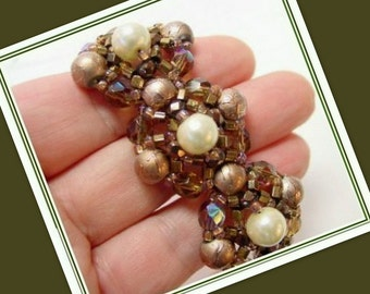 Beading Tutorial - Caprica Pearl Cluster Bracelet - Digital PDF Download