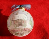 Deluxe Cozy Home Keepsake  Personalized Ornament, Handpainted, Personalized, Customized