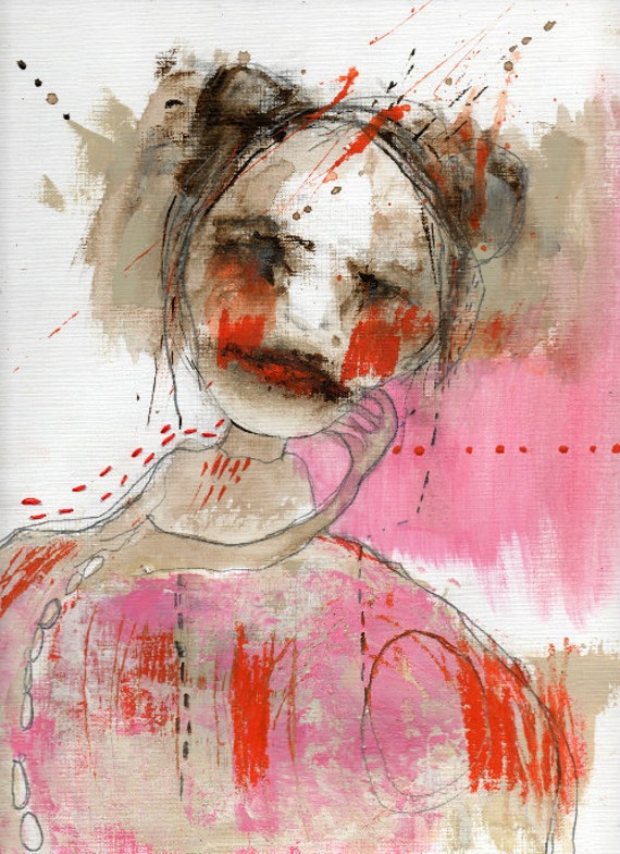 "Original Acrylic Mixed Media - Portrait  Painting -  ""Unsuitable"""