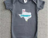 texas asphalt gray infant onesie 6-12m 12-18m toddler 2 and 4