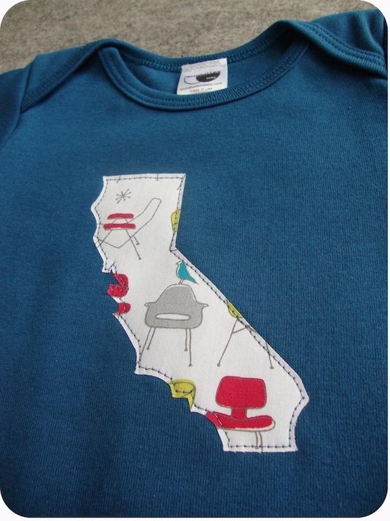 california organic onesie galaxy blue any state custom 6-12-18m 2,4,6 tee