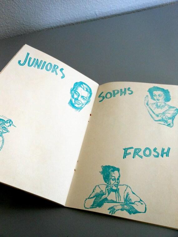 Vintage Album of Memories - High School Yearbook - Autograph Book